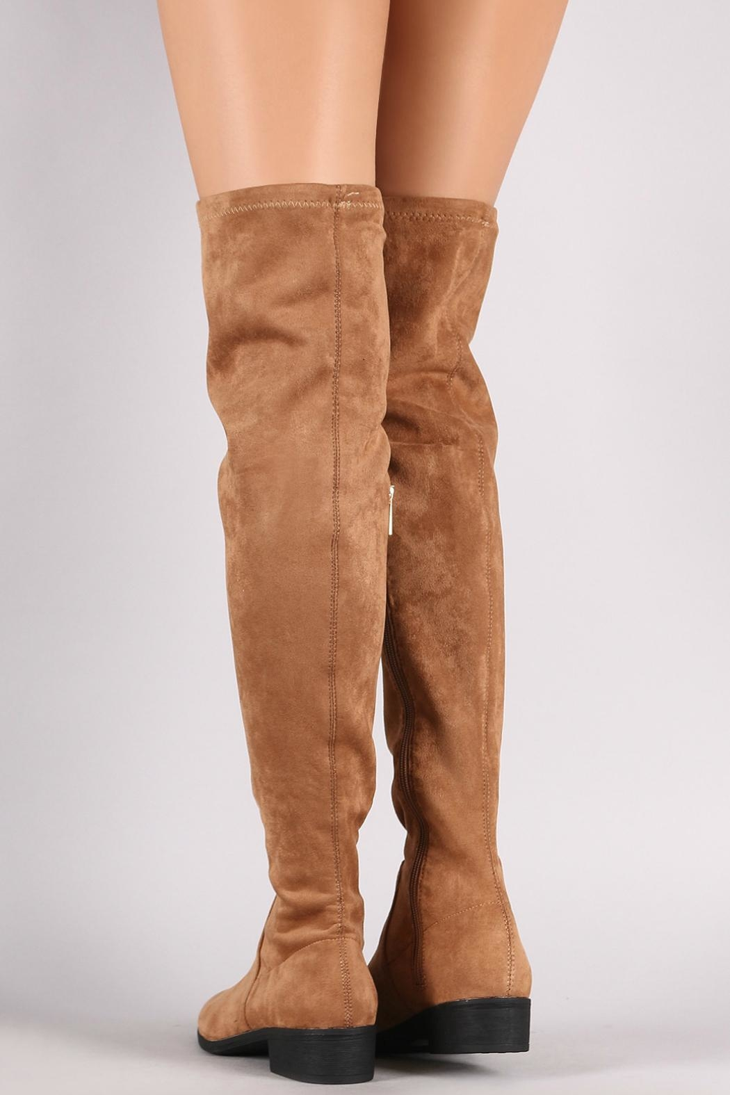 Bamboo Tan Over-The-Knee Boots - Side Cropped Image
