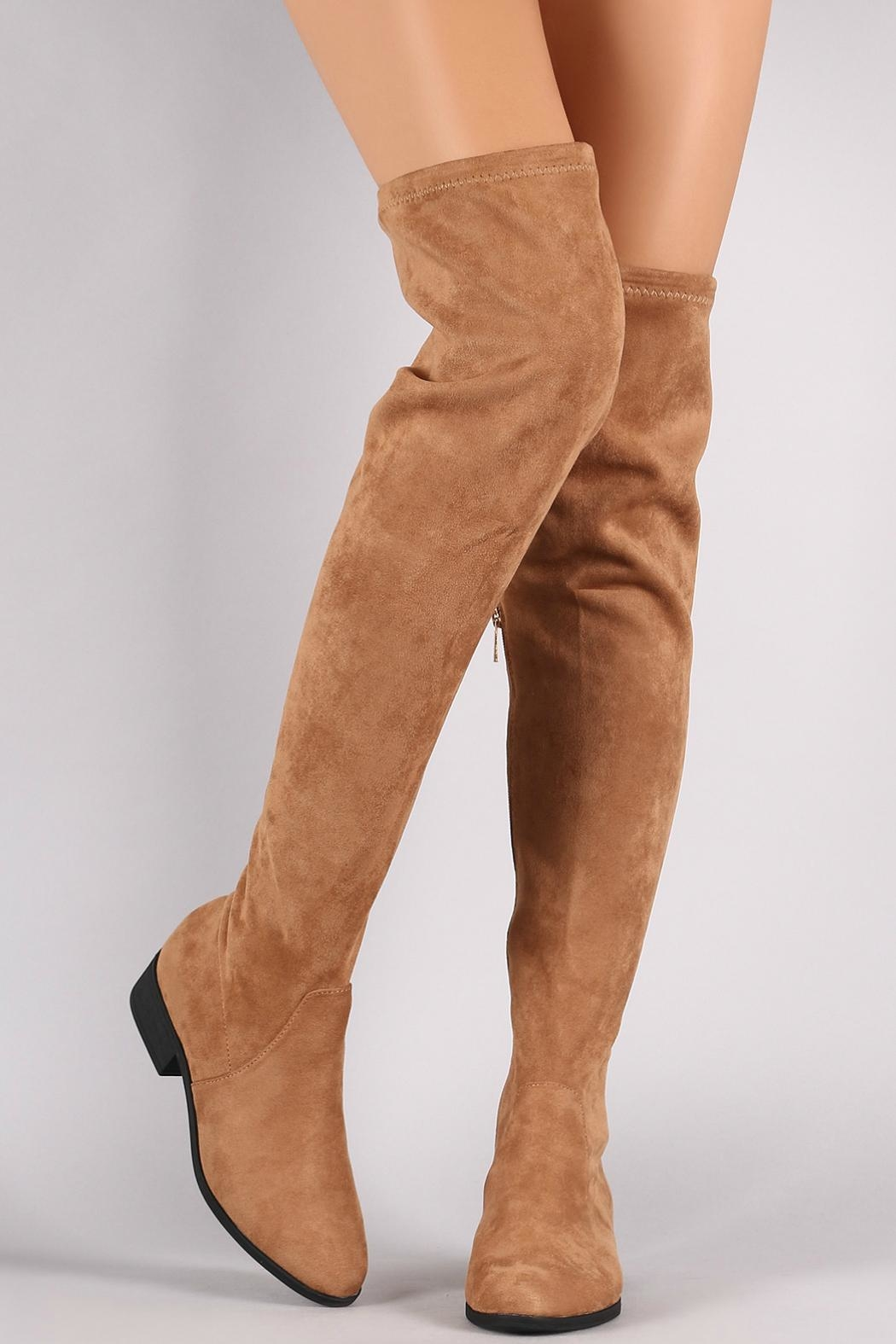 Bamboo Tan Over-The-Knee Boots - Main Image