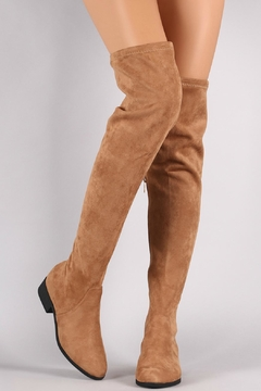 Shoptiques Product: Tan Over-The-Knee Boots