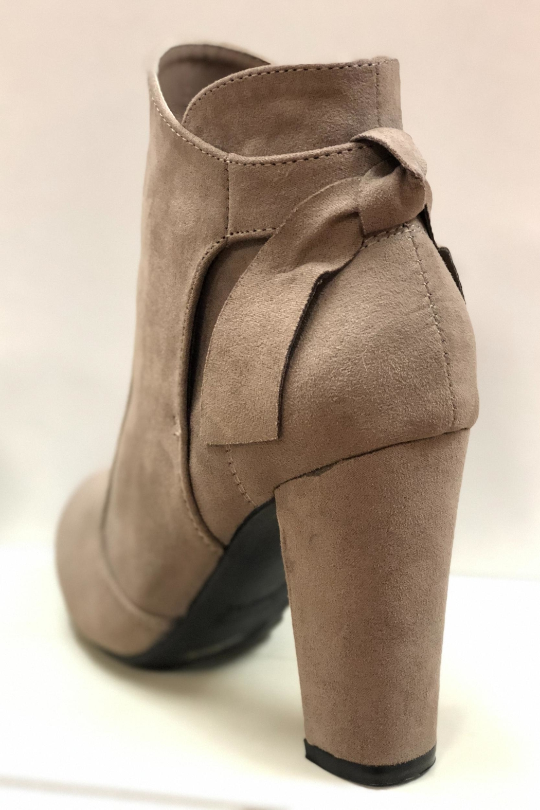 Bamboo Taupe Ankle Booties - Front Full Image
