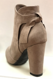 Bamboo Taupe Ankle Booties - Front full body