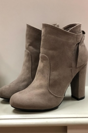 Bamboo Taupe Ankle Booties - Back cropped