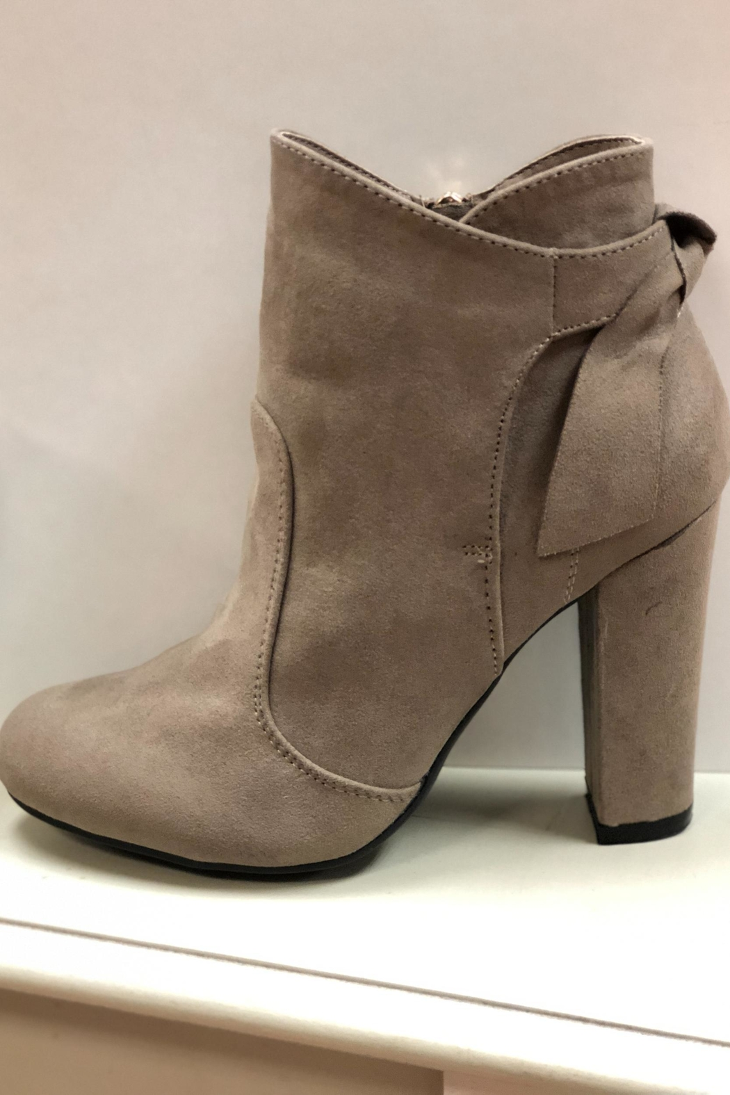 Bamboo Taupe Ankle Booties - Main Image
