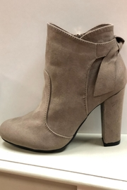 Bamboo Taupe Ankle Booties - Product Mini Image