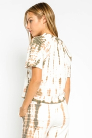 Olivaceous  Bamboo Tie Dye Crop - Front full body