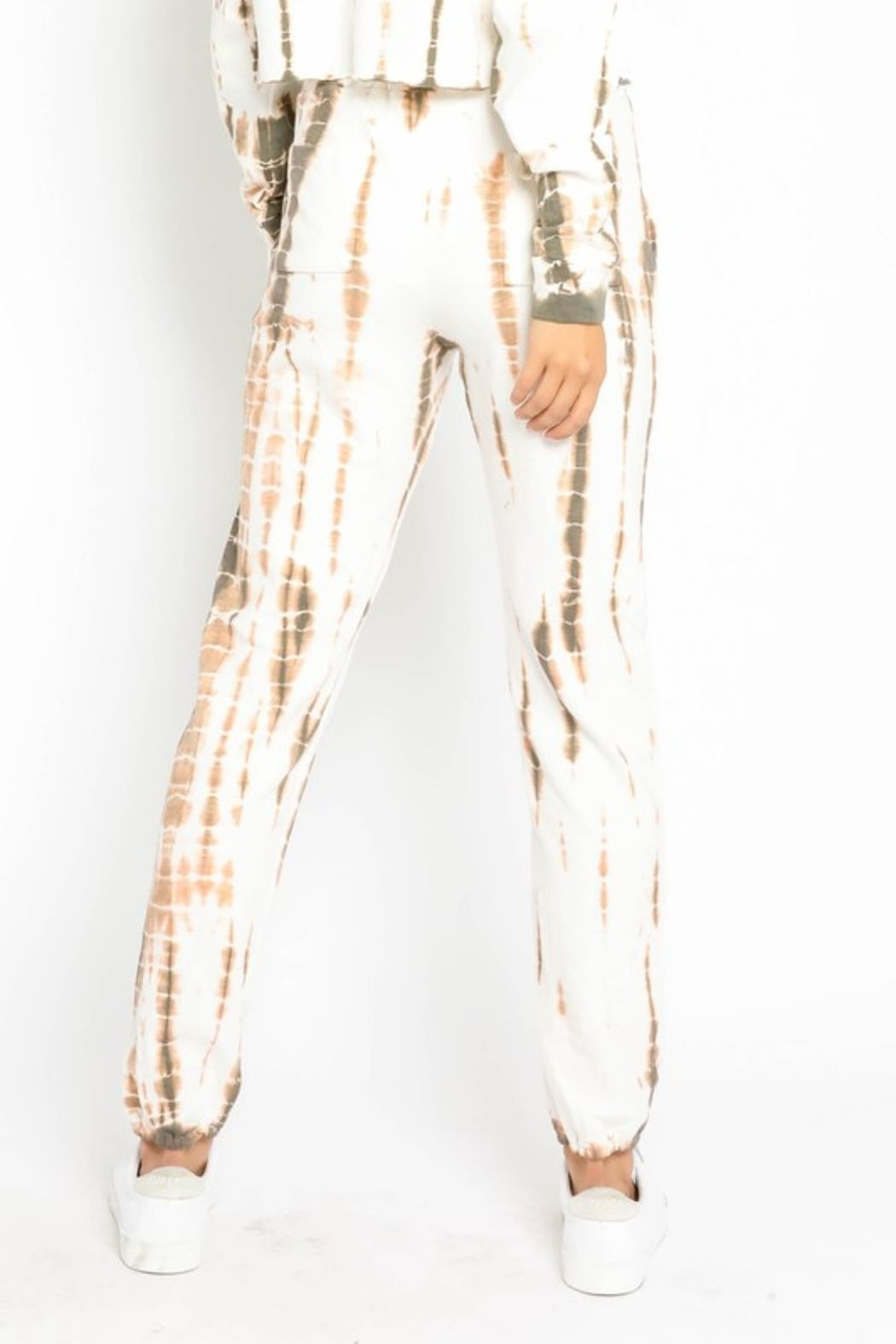 Olivaceous  Bamboo Tie Dye Joggers - Front Full Image