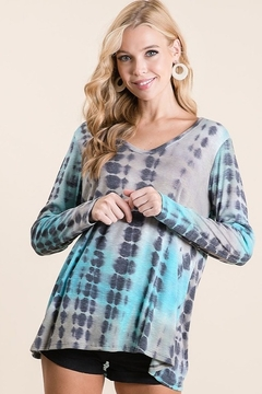 Bibi Bamboo Tie Dye Print Long Sleeve Top - Product List Image