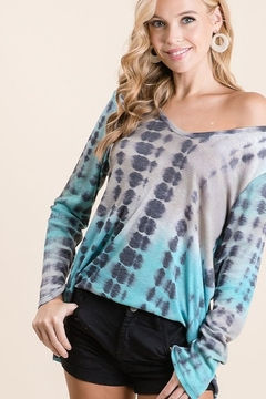 Bibi Bamboo Tie Dye Print Long Sleeve Top - Alternate List Image