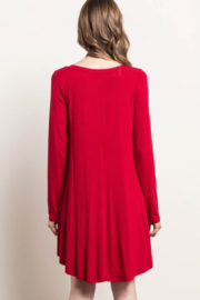 Mittoshop Bamboo V-Neck Dress With Pockets - Front full body