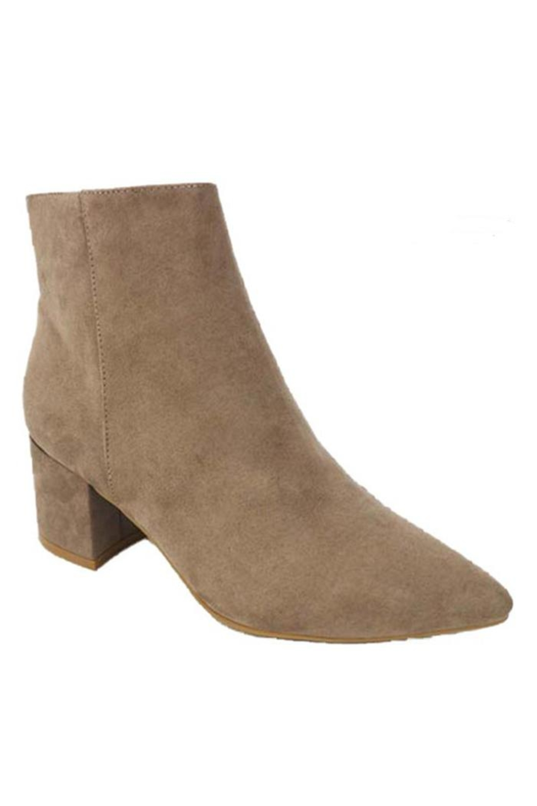 Bamboo Vegan Suede Bootie - Front Cropped Image