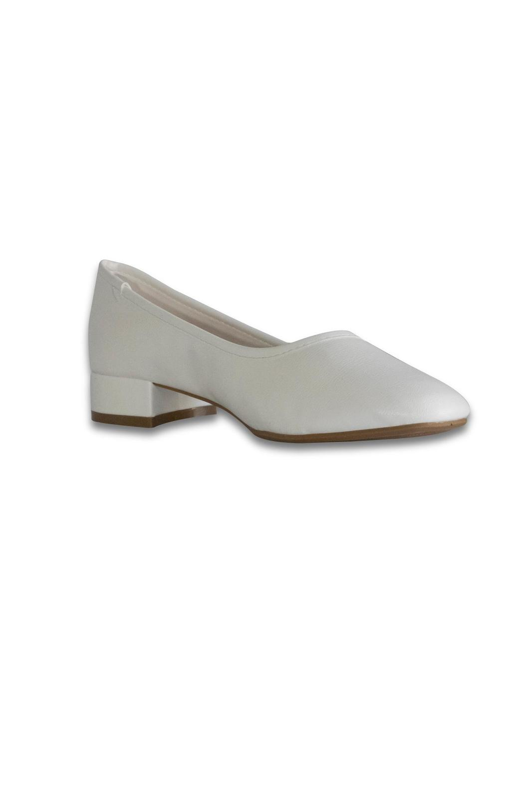 Bamboo White Ballet Pump - Front Full Image
