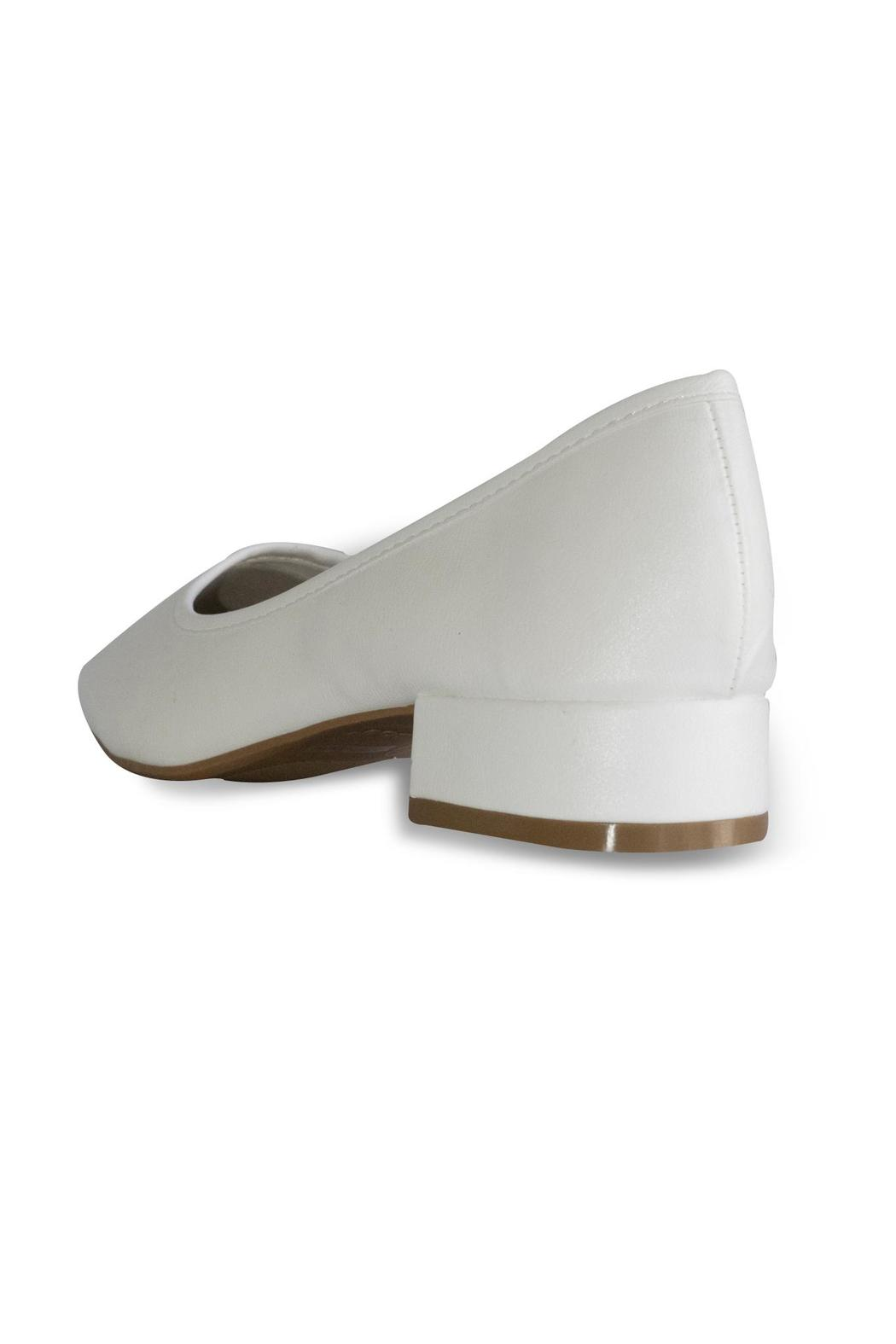 Bamboo White Ballet Pump - Back Cropped Image