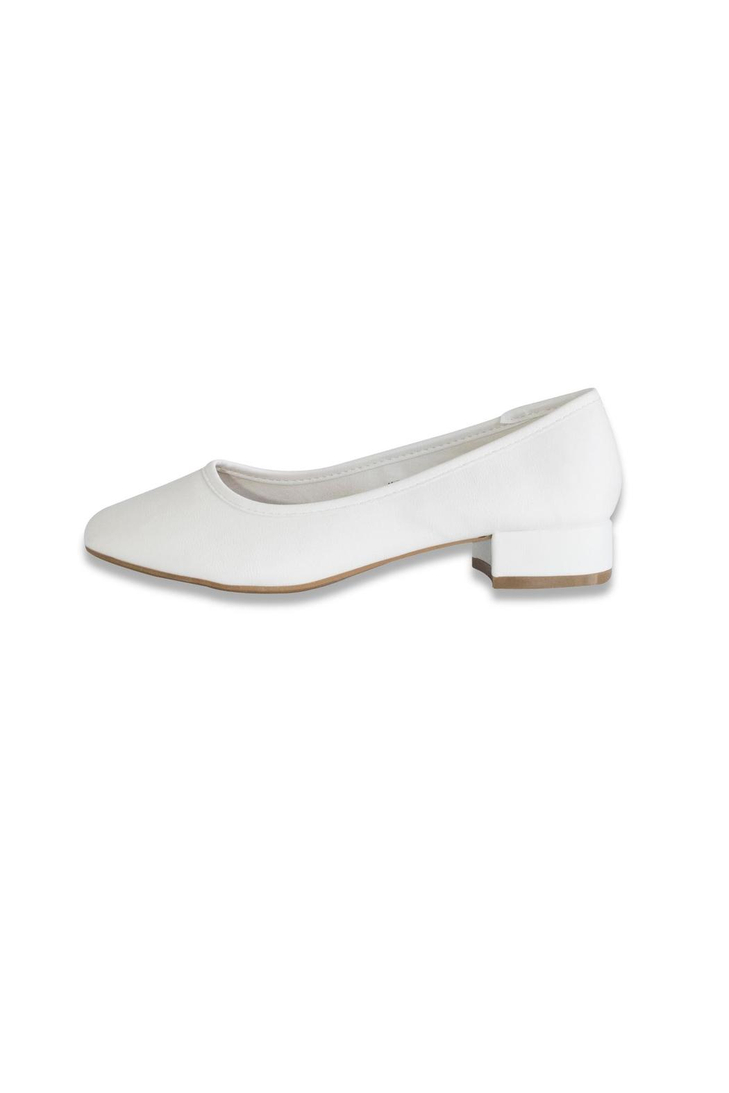 Bamboo White Ballet Pump - Front Cropped Image