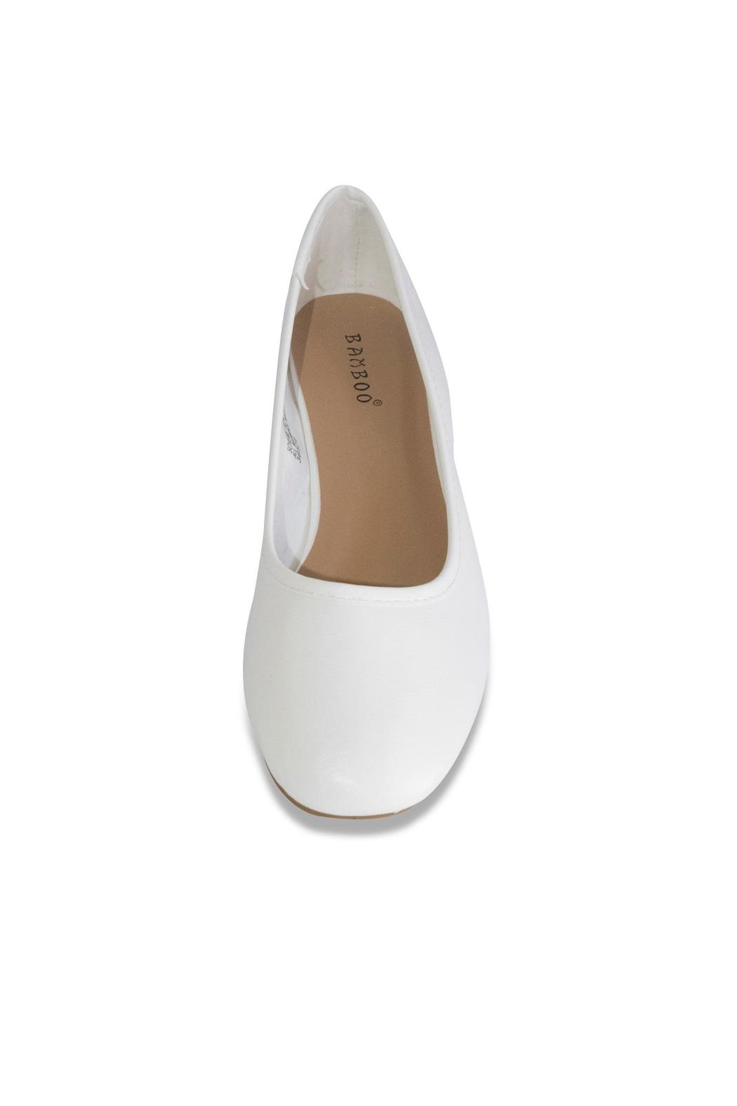 Bamboo White Ballet Pump - Side Cropped Image