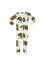 Milkbarn Bamboo Zipper Pajama - Product Mini Image