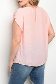 Banabee Peach Lace Top - Front full body
