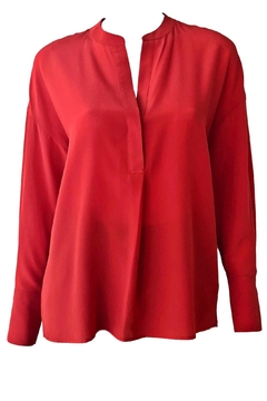 Vince Band Collar Blouse - Product List Image