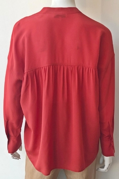 Vince Band Collar Blouse - Alternate List Image