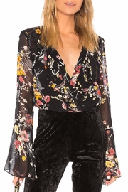 Band Of Gypsies Abstract Floral Bodysuit - Product Mini Image