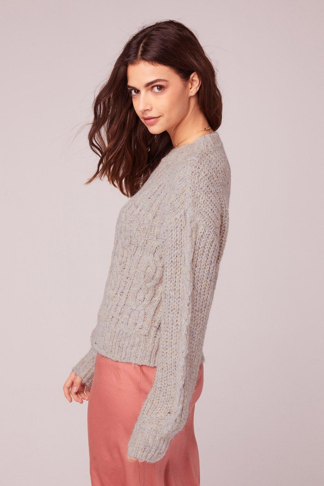 Band Of Gypsies Cable Knit Sweater - Side Cropped Image