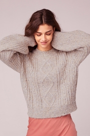 Band Of Gypsies Cable Knit Sweater - Front full body