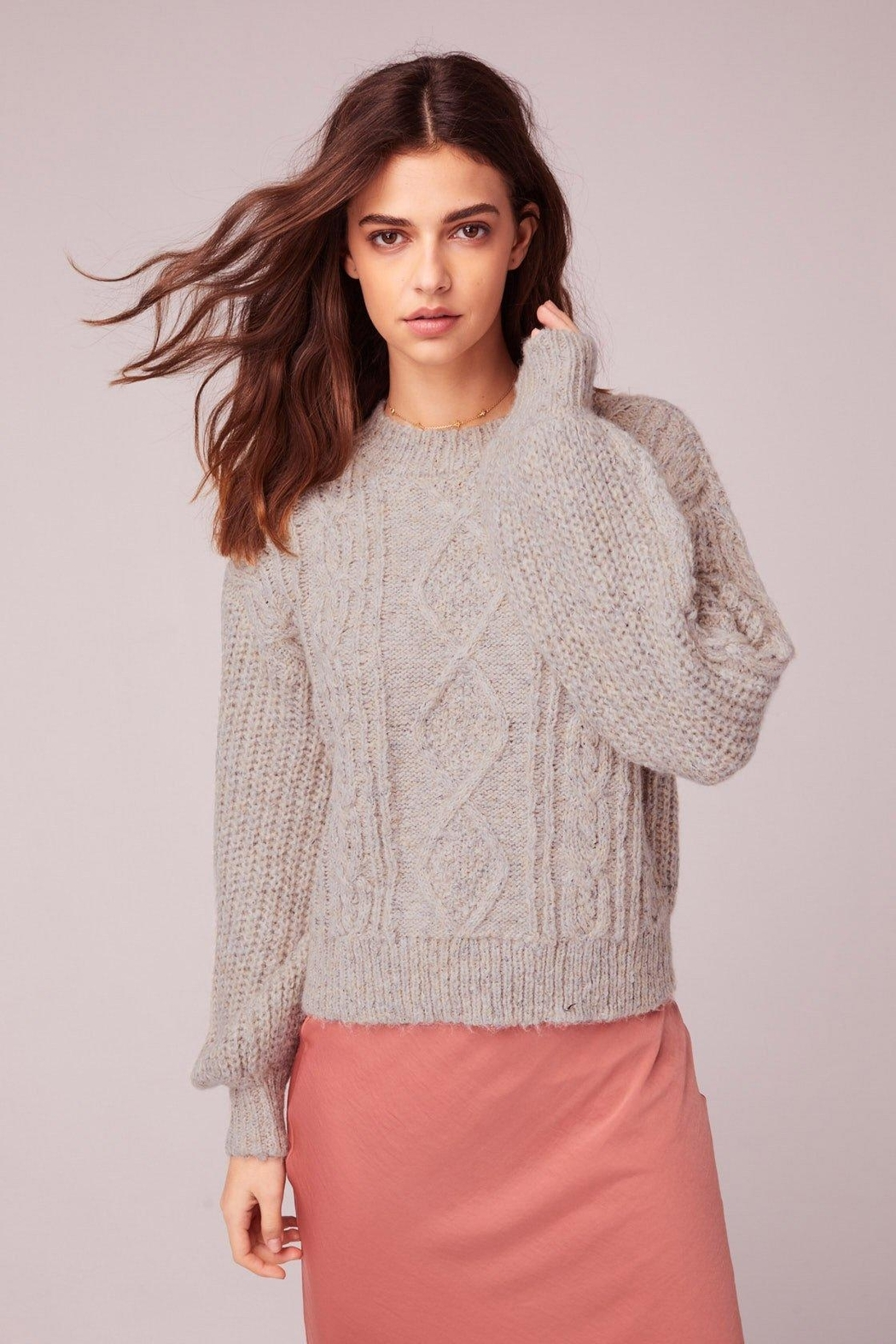 Band Of Gypsies Cable Knit Sweater - Main Image