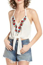 Band Of Gypsies Embroidered Floral Halter - Product Mini Image