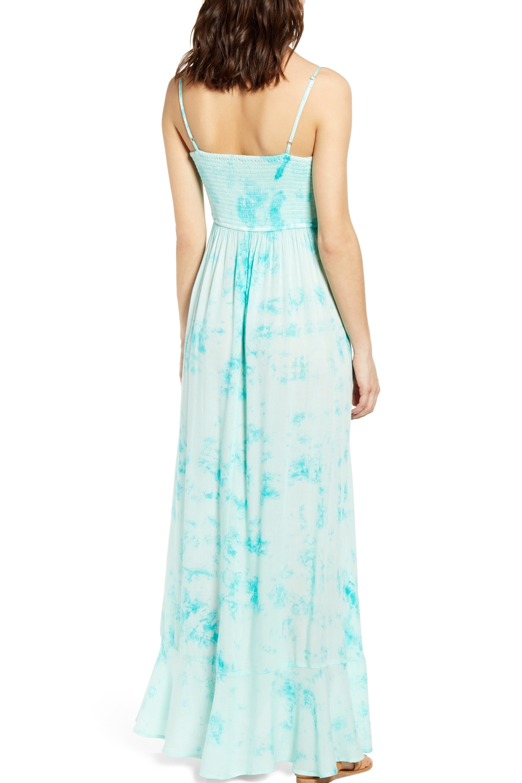 Band Of Gypsies Jade Tie-Dye Maxi - Front Full Image