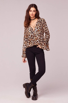 Band Of Gypsies Jungle Leopard Print-Top - Product List Image