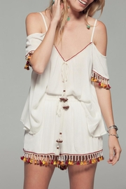 Band Of Gypsies Tassel Cold Shoulder Top - Product Mini Image