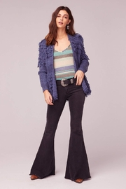 Band Of Gypsies Textured Fringe Sweater - Front cropped
