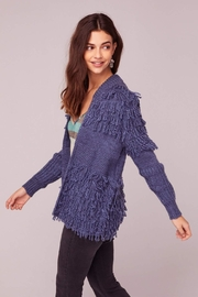 Band Of Gypsies Textured Fringe Sweater - Side cropped