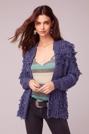 Band Of Gypsies Textured Fringe Sweater - Front full body