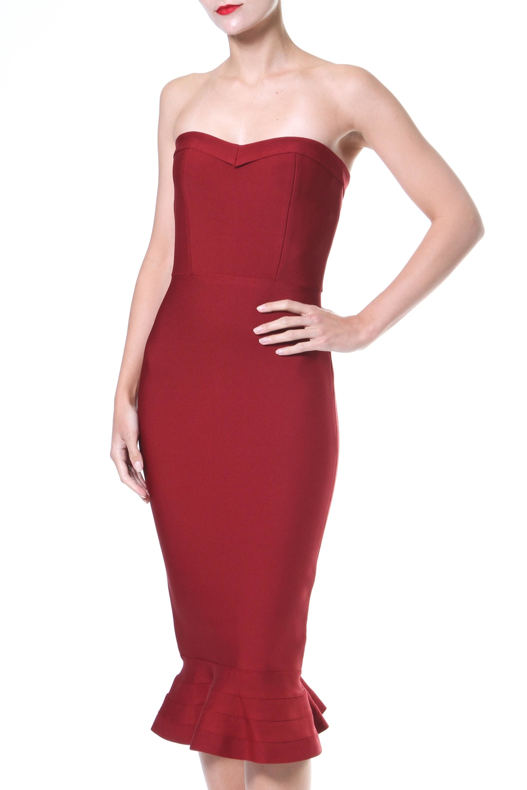 Madonna & Co Bandeau Bodycon - Front Cropped Image