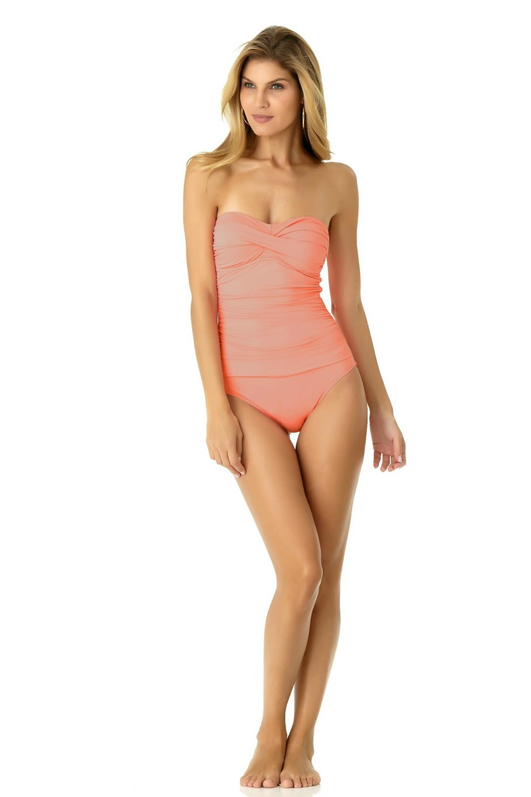 Anne Cole Bandeau One Piece - Front Full Image