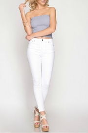 She + Sky Bandeau Tube Top - Front full body