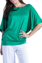 24/7 Comfort Apparel Banded Dolman Top - Front cropped