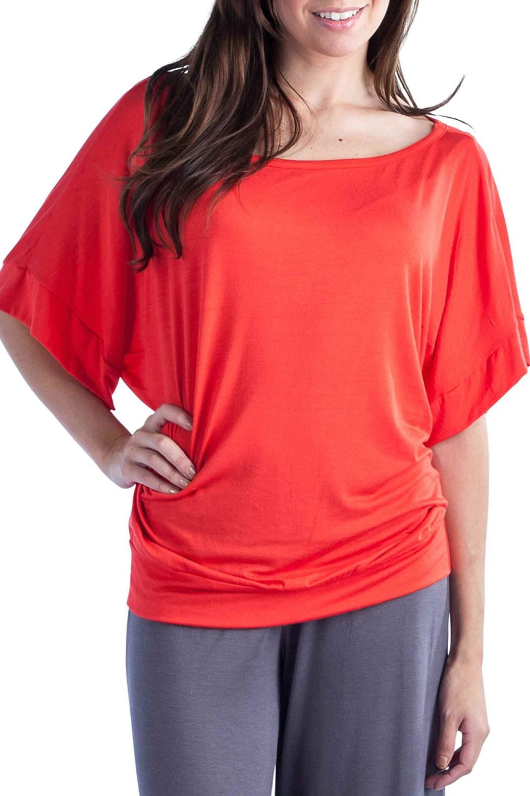 24/7 Comfort Apparel Banded Dolman Top - Main Image