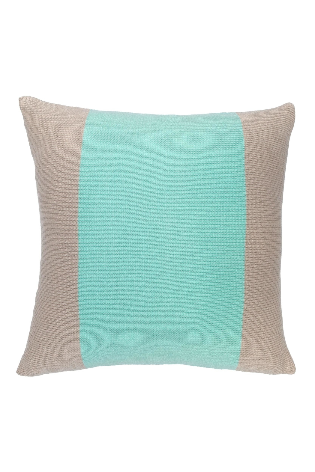 Wooden Ships Banded Knit Pillow - Front Cropped Image