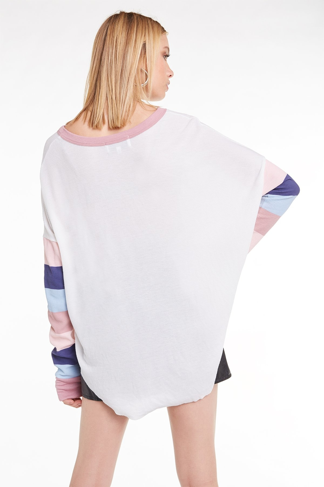Wildfox Banded Sleeve Perry Thermal - Side Cropped Image