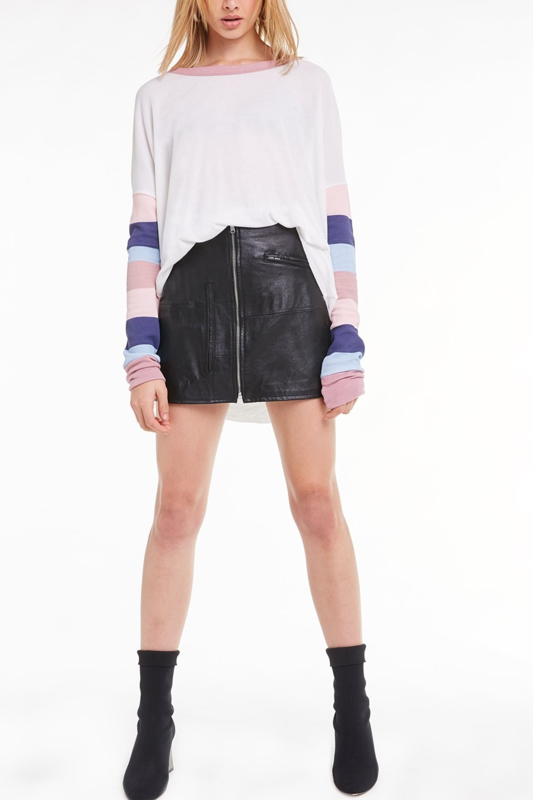 Wildfox Banded Sleeve Perry Thermal - Main Image