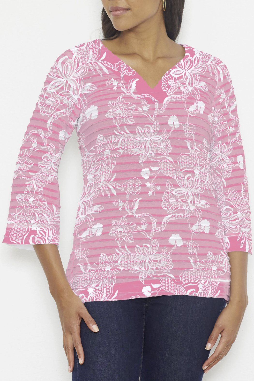 Whimsy Rose Banded Tunic - Main Image