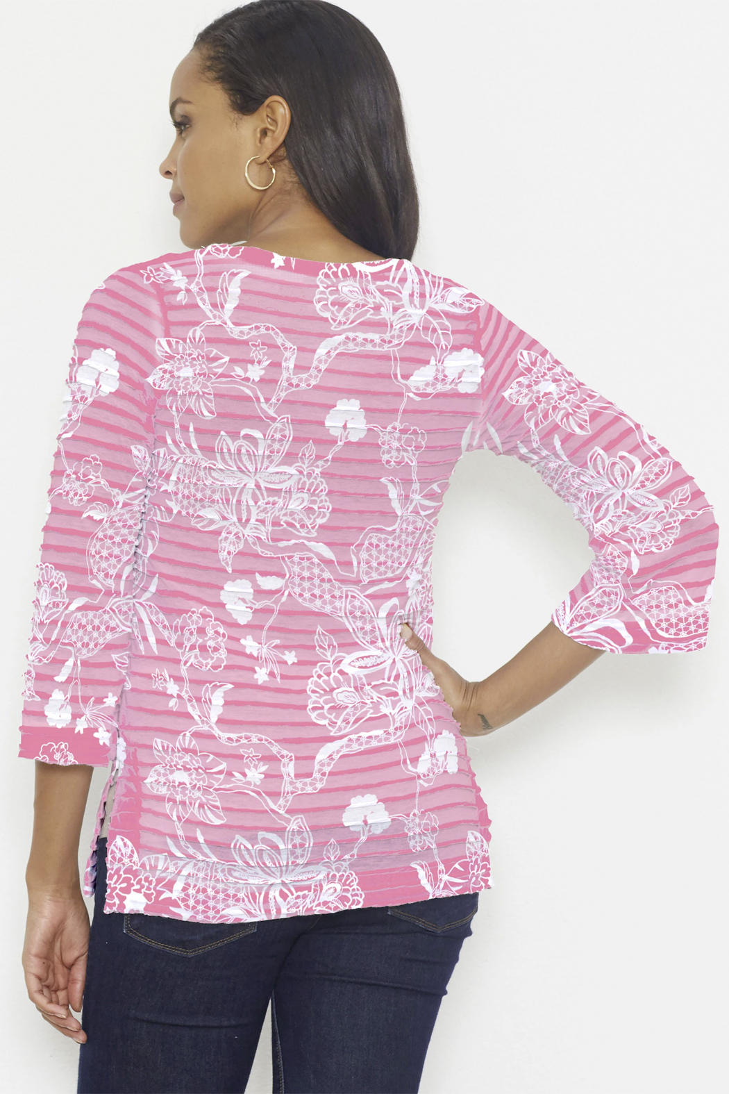 Whimsy Rose Banded Tunic - Front Full Image