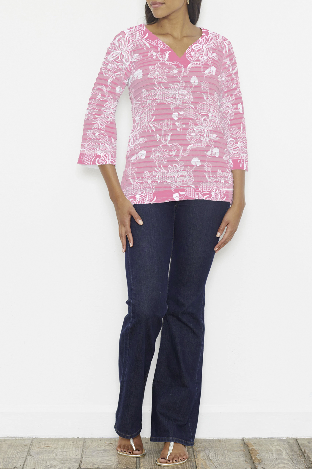 Whimsy Rose Banded Tunic - Side Cropped Image