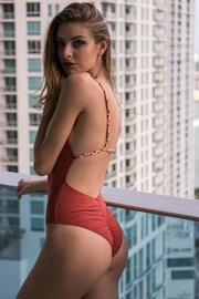 Bandits Swimwear Rust Braided One-Piece - Product Mini Image