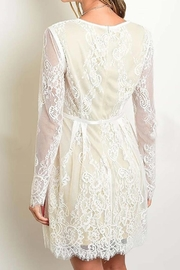 Banjul Lace Sleeved Dress - Front full body