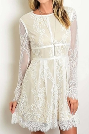 Banjul Lace Sleeved Dress - Product Mini Image
