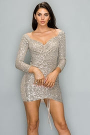 Banjul Long-Sleeve Sequin Dress - Product Mini Image