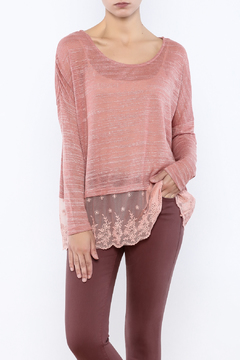 Banjul Rose Lace Top - Product List Image