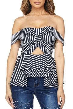 Banjul Strapless Striped Blouse - Product List Image